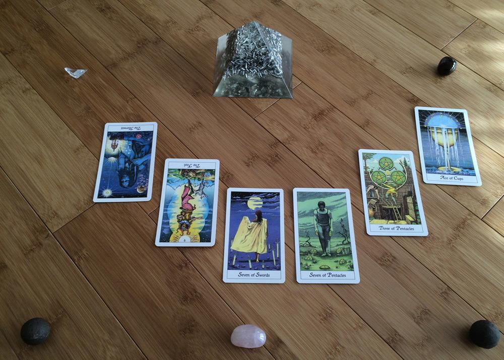 Card deck used:  The Cosmic Tarot