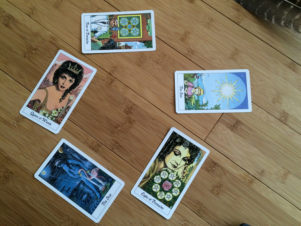 Initial Discussion Part Two Answer, 'G' for Garner, The Cosmic Tarot deck