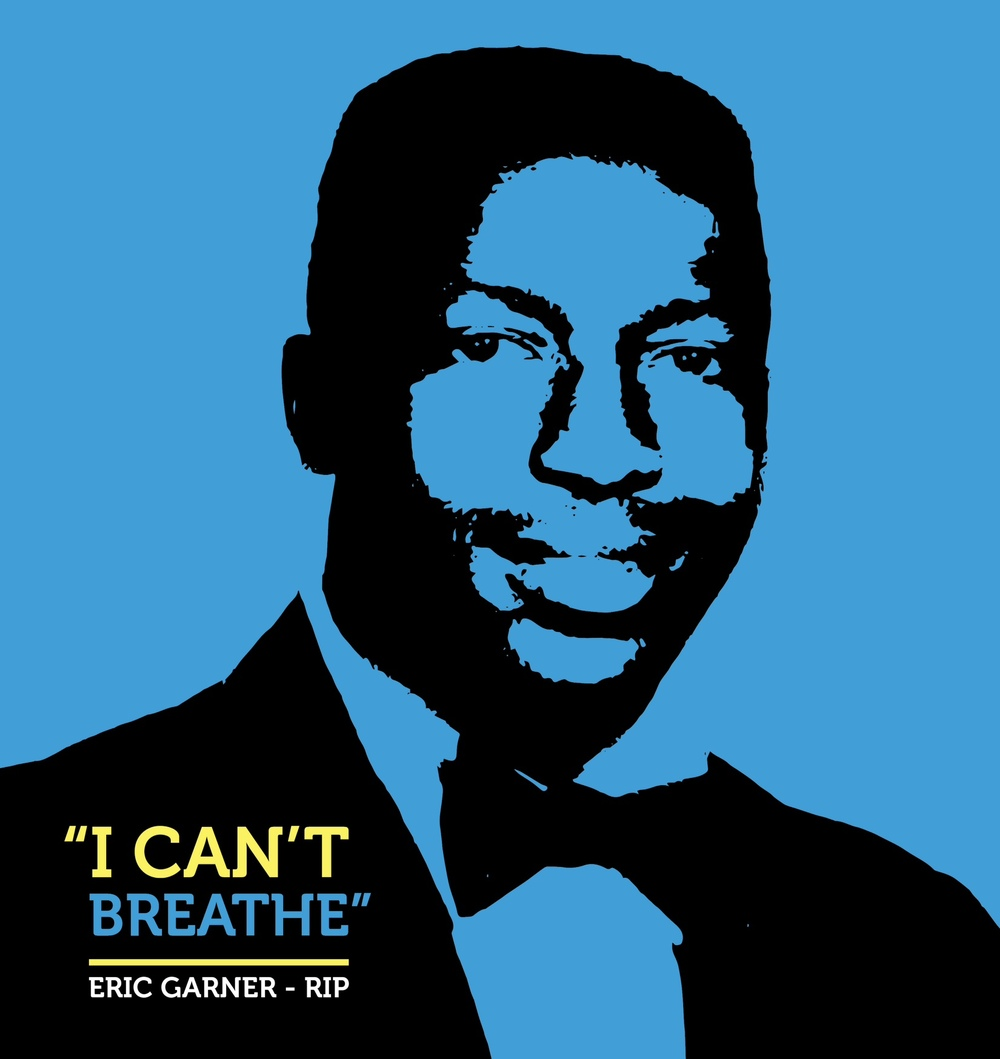 'I Can't Breathe', tribute to Eric Garner by artist Adrian Franks