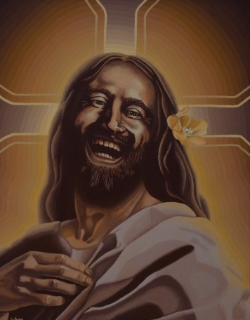 'Laughing Jesus' by June Moonz