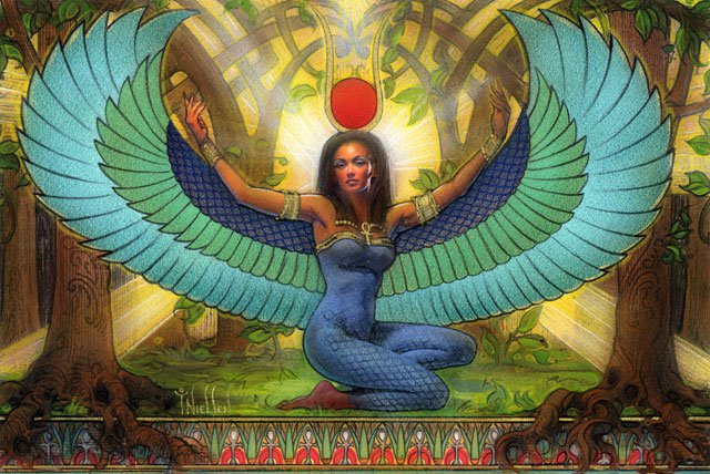 Ancient Egyptian Goddess Isis (Aset), artist unknown