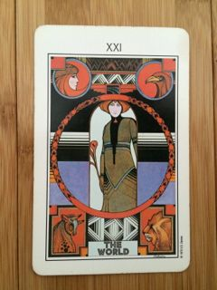 The World card, Aquarian tarot