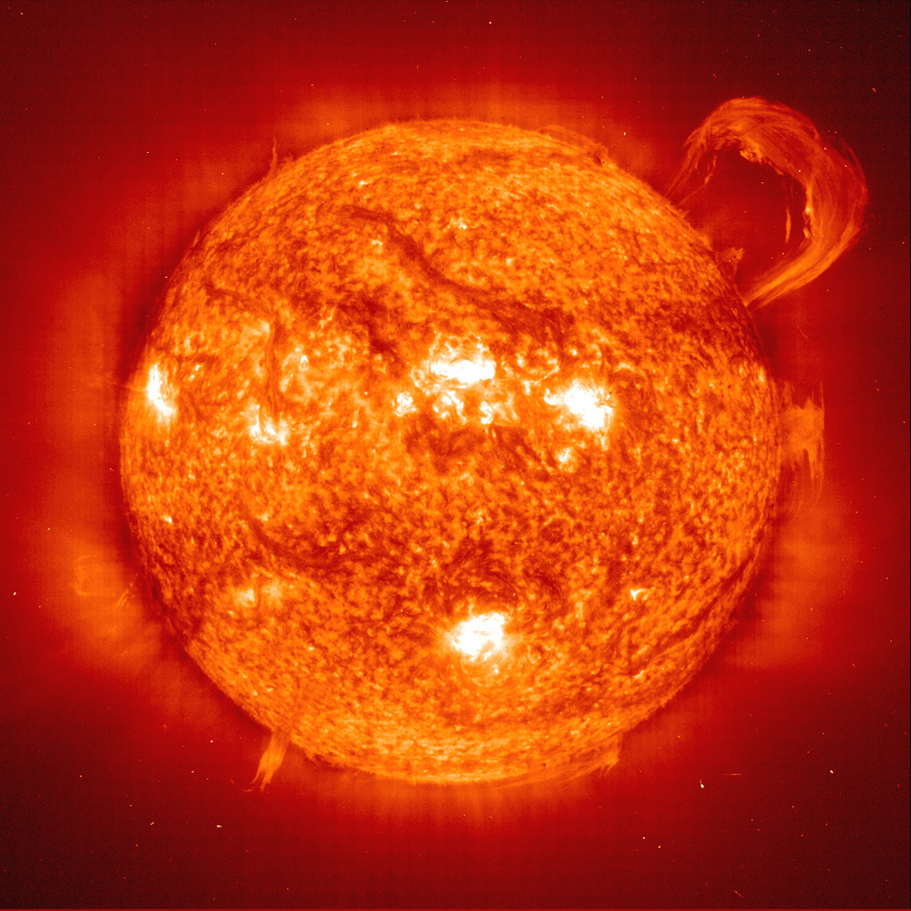 Plasma sun eruption , NASA