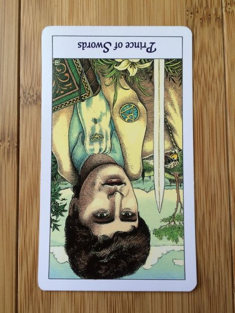 Prince of Swords reversed,  Cosmic Tarot