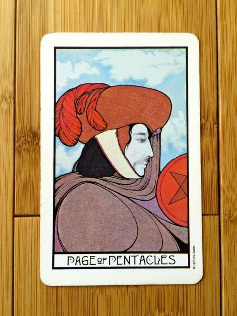 Page of Pentacles, Aquarian tarot deck