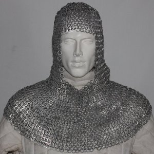Mannequin in mail armor