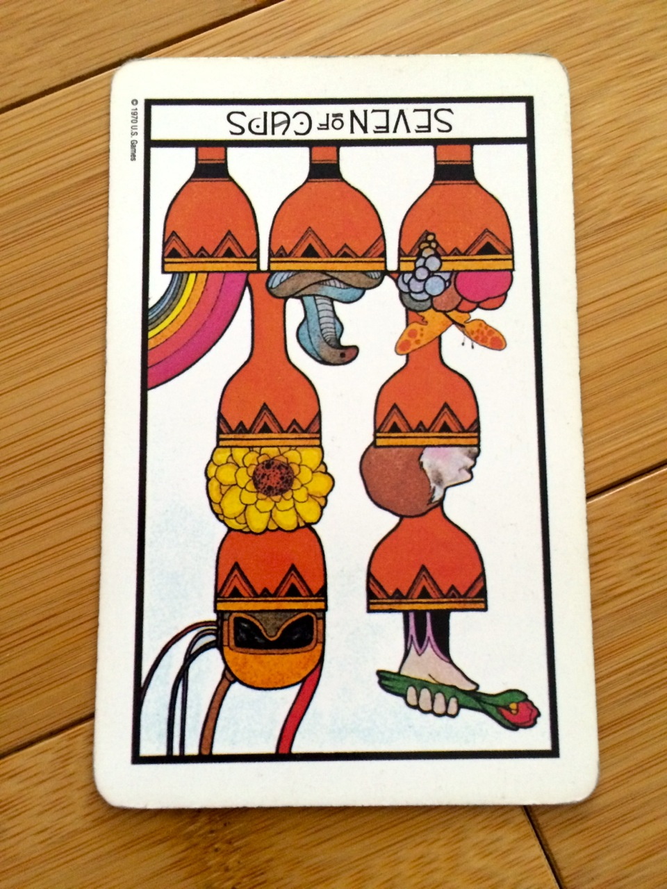 Seven of Cups reversed, Aquarian deck