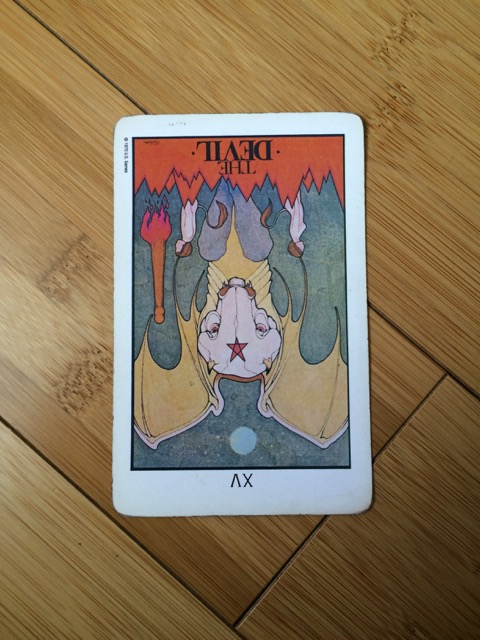 Devil card reversed,  Aquarian tarot deck