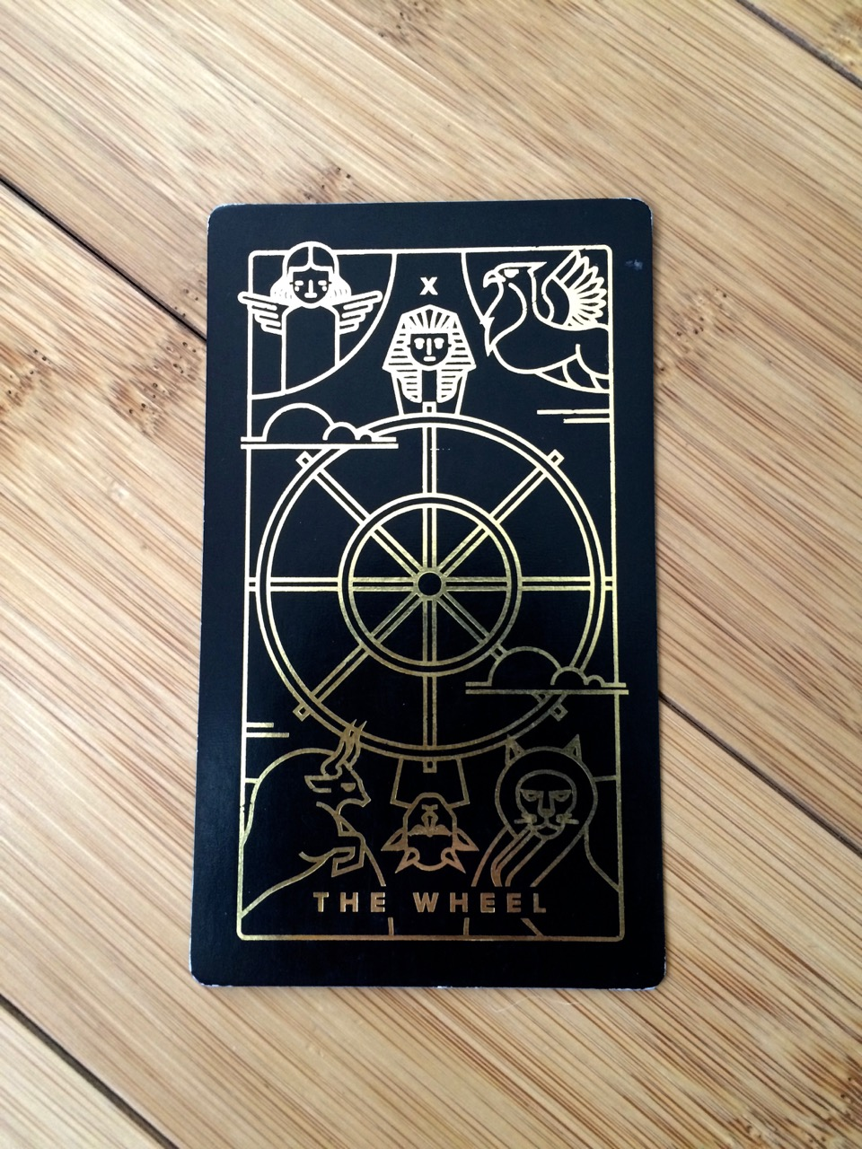 The Wheel card, Golden Thread Tarot