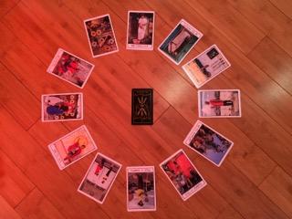 Astrological spread with  Ghetto Tarot  and  Golden Thread Tarot