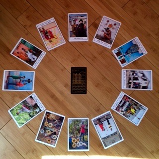 Astrological spread with  Ghetto Tarot  and  Golden Thread Tarot