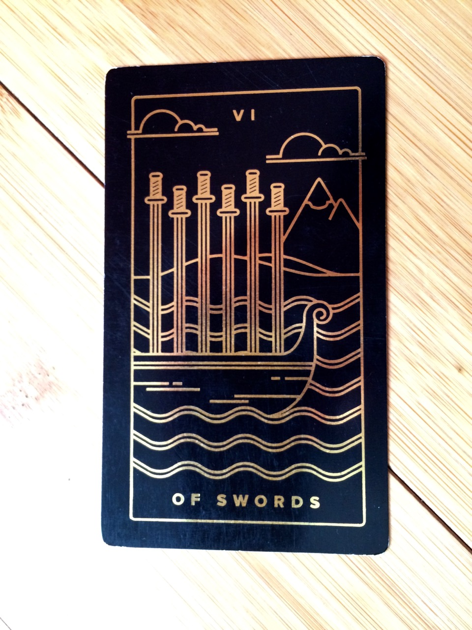 Six of Swords, Golden Thread Tarot