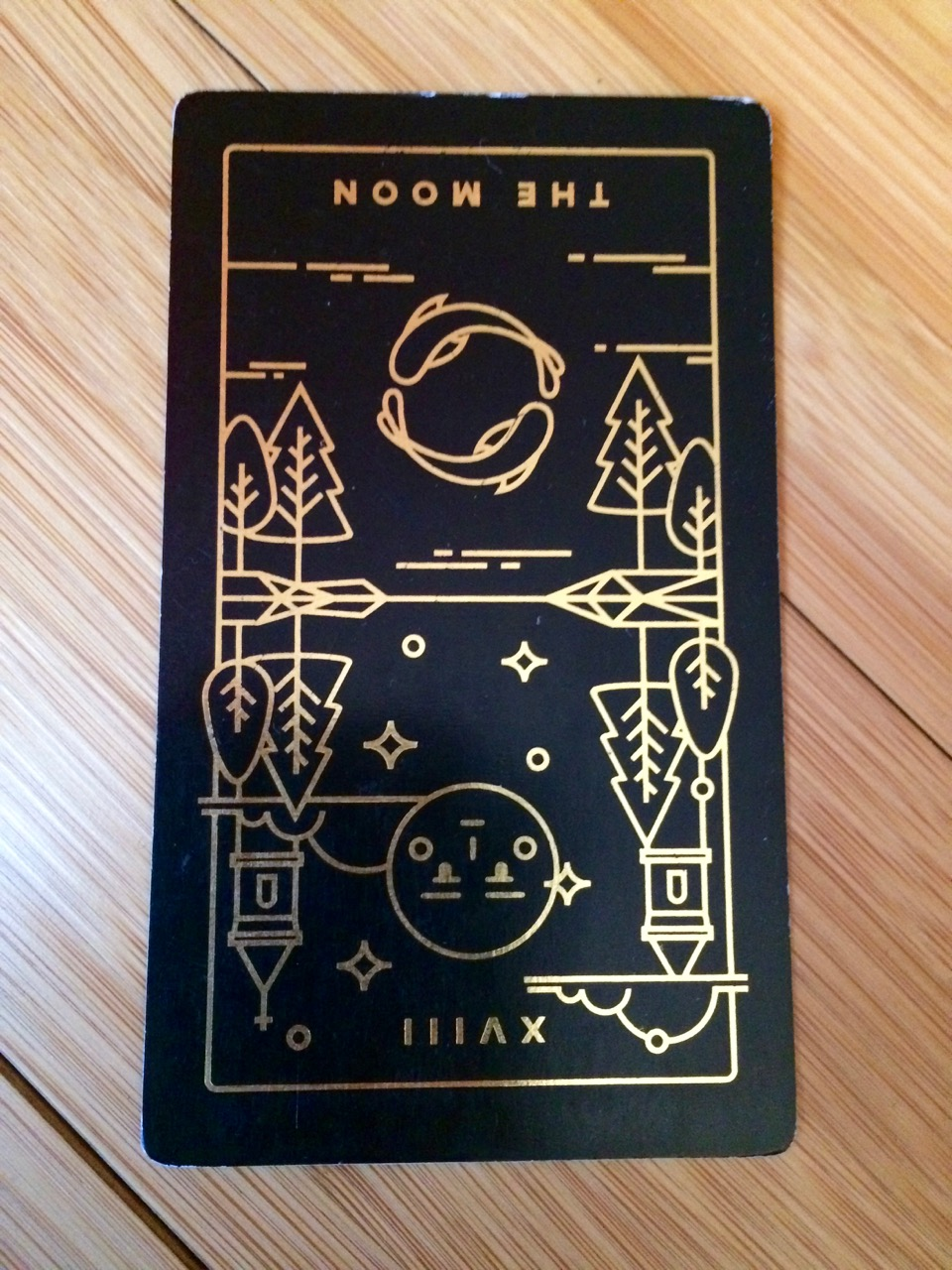 Moon reversed,  Golden Thread Tarot