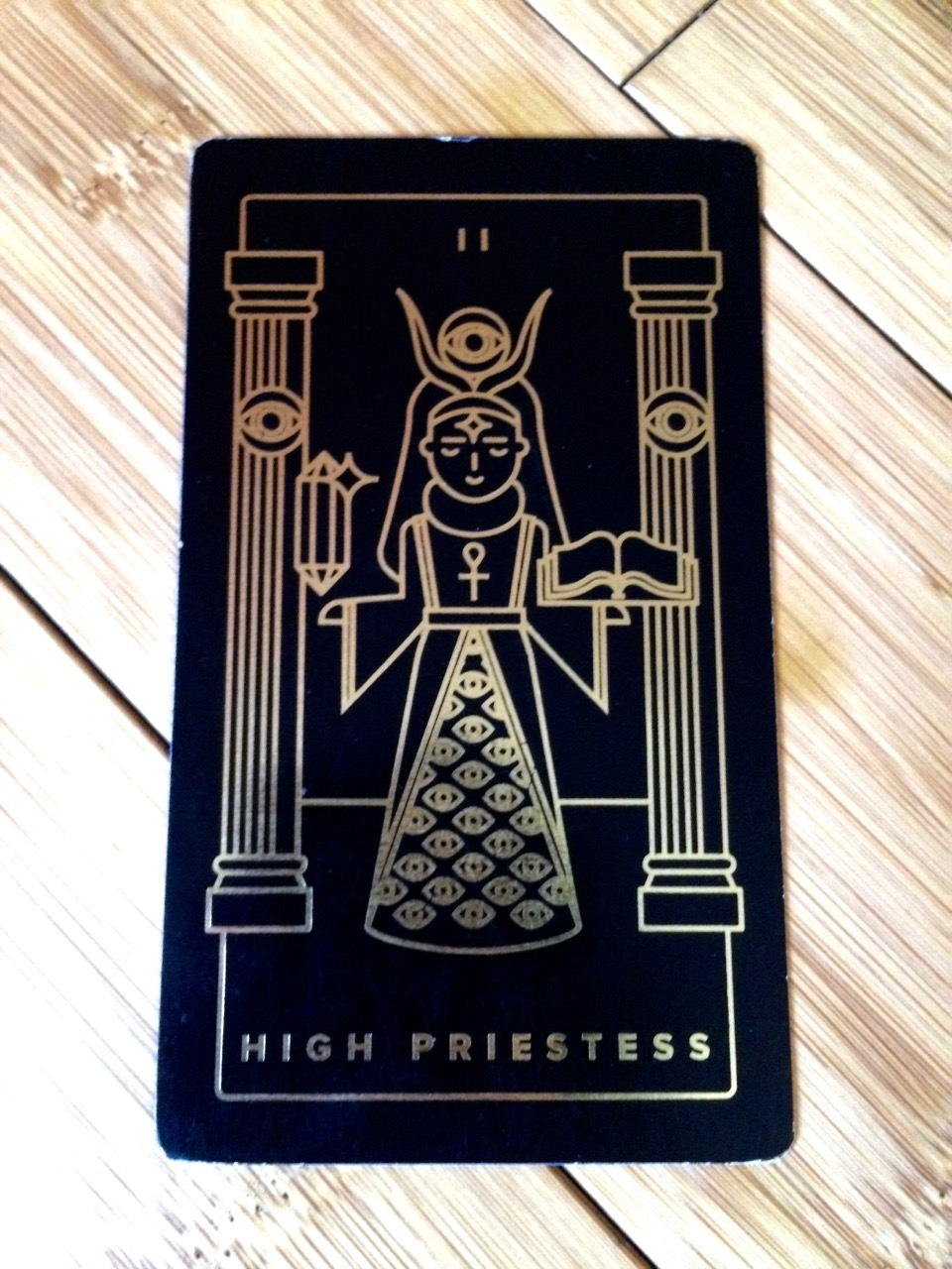 High Priestess,  Golden Thread Tarot
