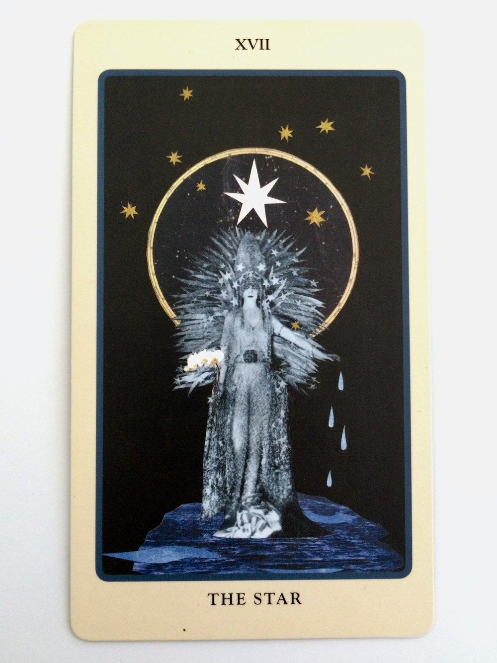 The Star card from  The Spolia Tarot