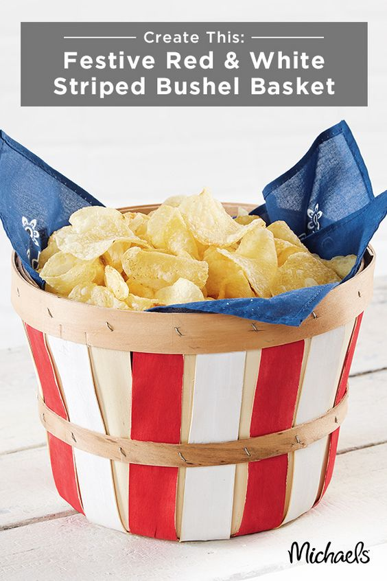 Another DIY that you should definitely save after your Memorial Day party are these stars and stripes baskets. This three-step project from Michaels will make a big impact on your table and make for an easy cleanup! Check out the project on Michaels.com,  here .
