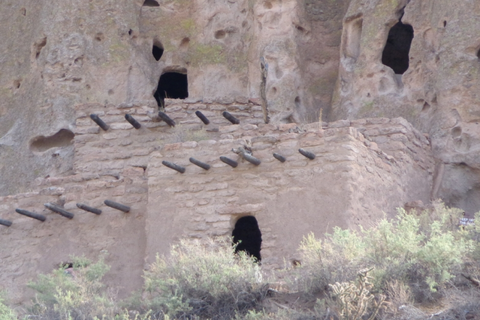 Bandelier National Monument - New Mexico.   Photograph by author.