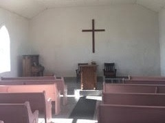 Interior, St. John's Methodist Episcopal Church, Johnson Mesa, Northern New    Mexico    Photograph by Author