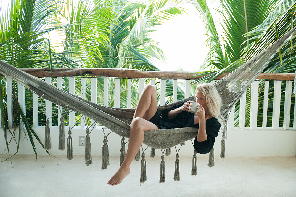 I loved the beach and pool at Villa La Semilla, but one of my favorite things was to listen to the wind lightly blowing through the palms as I swayed in the hammock...