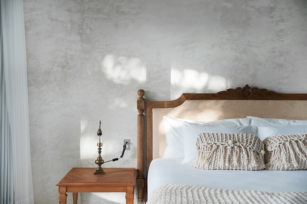 From carefully curated vintage finds from flea markets to custom made furniture and soft linens, no detail was overlooked when choosing the furnishings for each room.