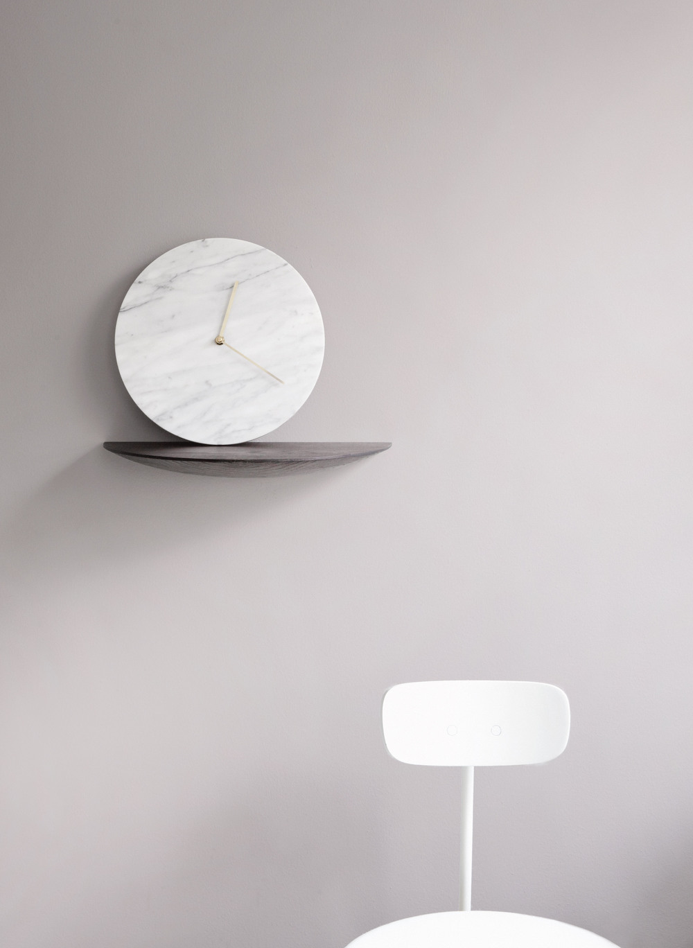 Marble Wall Clock. Design by: Norm Architect.