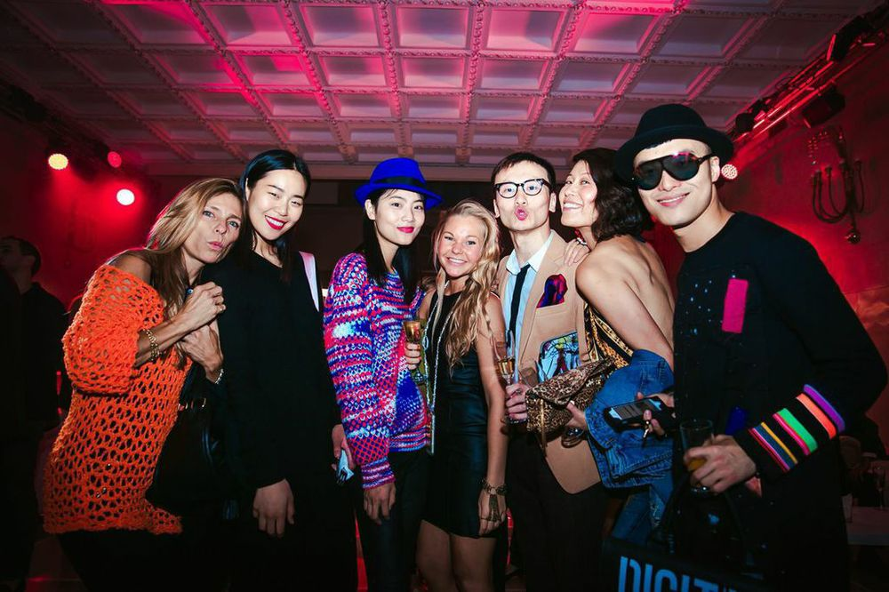 Our Fashion Director with the lovely models from Paris fashion week and Fashion blogger Peter Xu