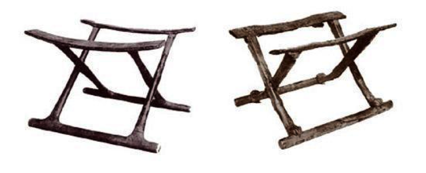 Folding stool from thebes, c. 1450-1400 B.C.