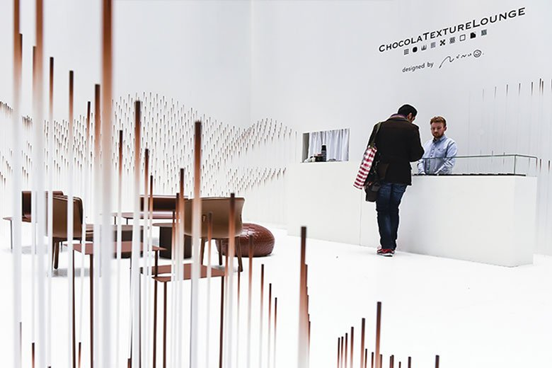 ChocolaTextureLounge Installation by Nendo