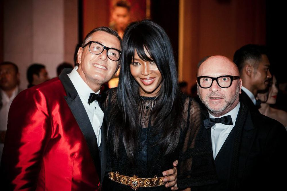 Stefano Gabbana, Naomi Campbell & Domenico Dolce