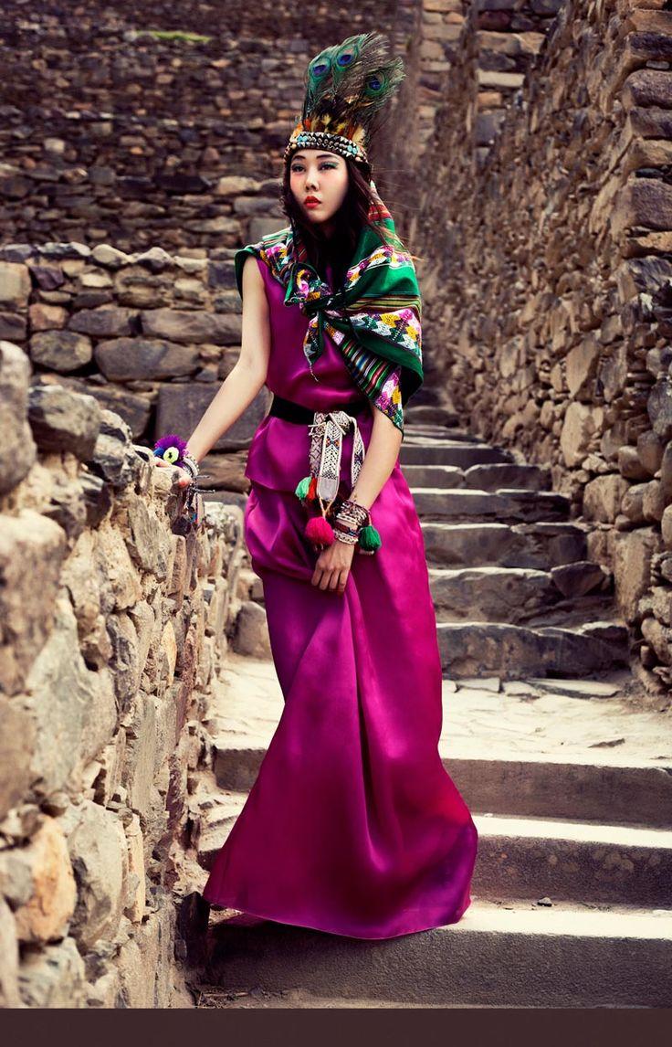 FASHION GONE ROGUE - HAN HYE JIN EMBRACES THE COLORS OF PERU