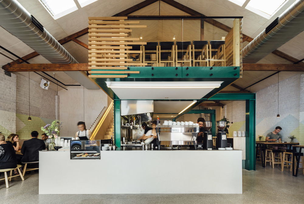 the Code Black cafe. Located in North Melbourne
