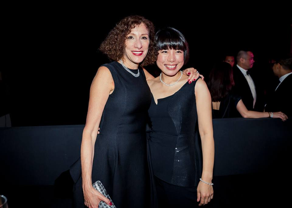 President of Condé Nast China, Liz Schimel with Editor in Chief of Vogue China, Angelica Cheung