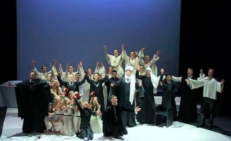"IBI Students onstage in their first opera production with New Opera NYC in Tchaikovsky's ""Iolanta""."