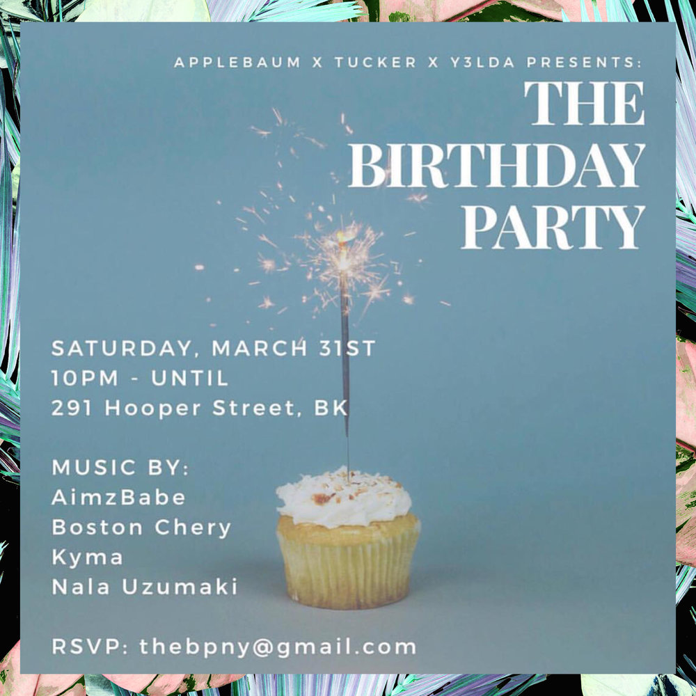 Topping off my birthday month with these badass babes on Saturday 3/31 in South Williamsburg... I'll be dripping some psychedelic & soulful deep disco sound waves through the speakers 10-11pm 💦 🎂💋 PS there will be cake...I hope it's funfetti!