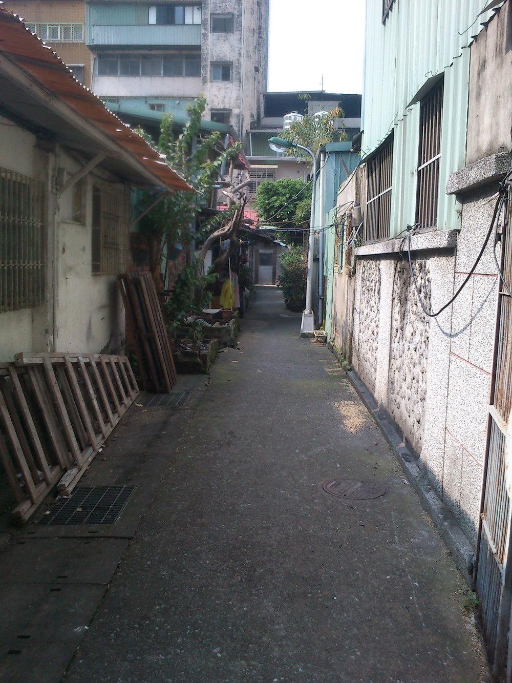 Back lanes of the police dormitory houses.