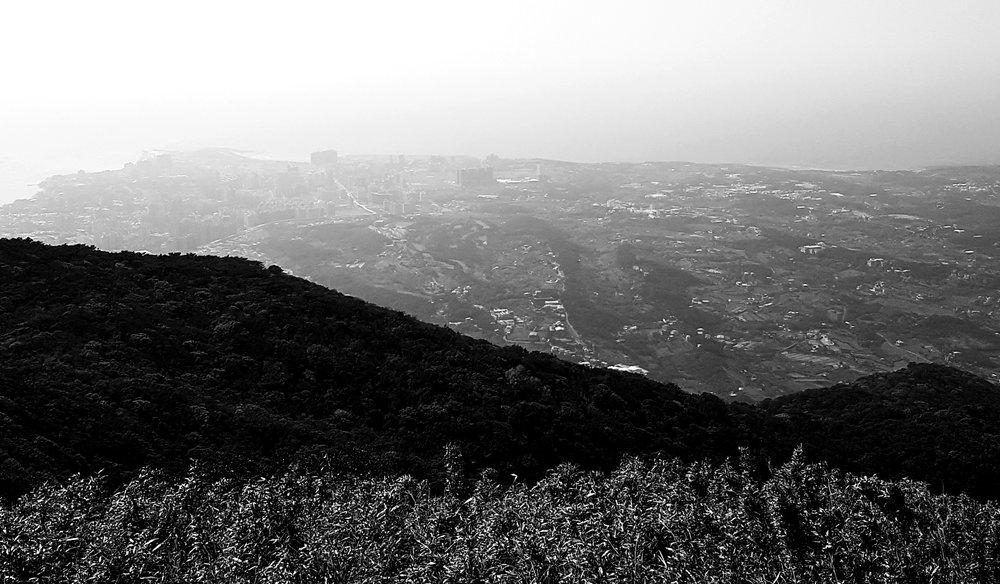 Danshui new town in afternoon haze