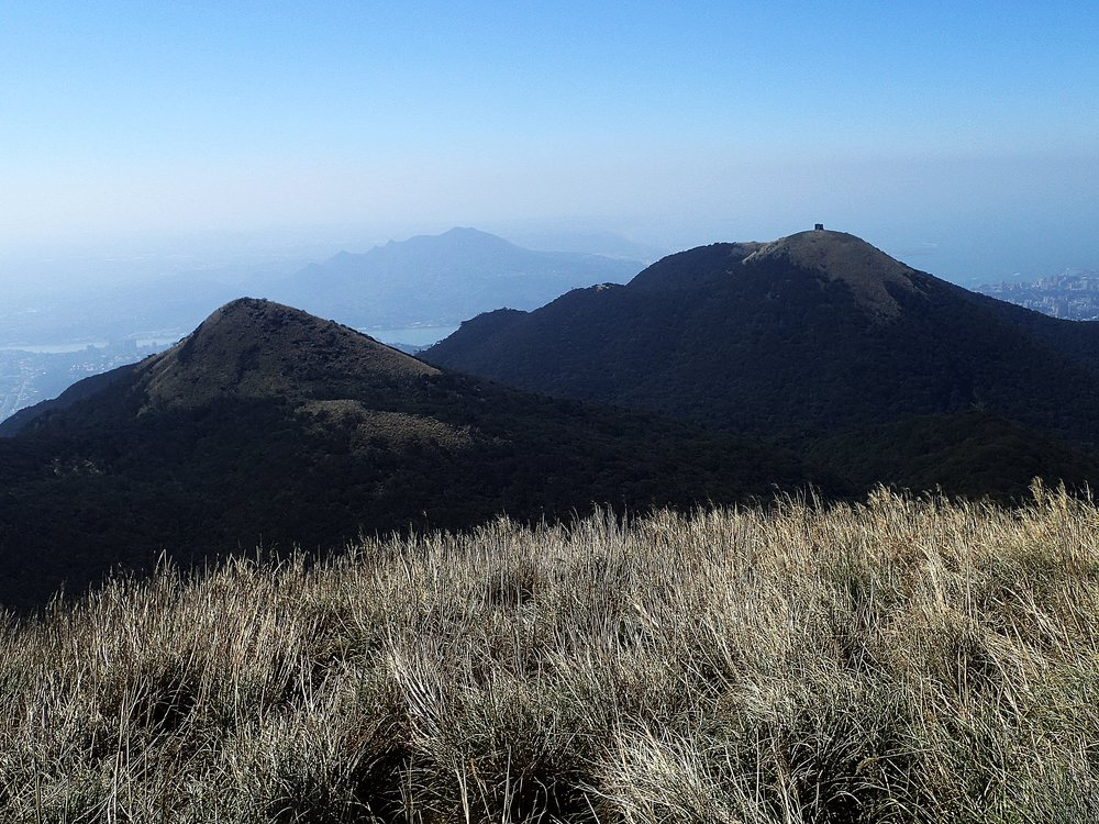 View towards the Datun West Peak and Mt Miantian. Mt Guanyin is in the distance.
