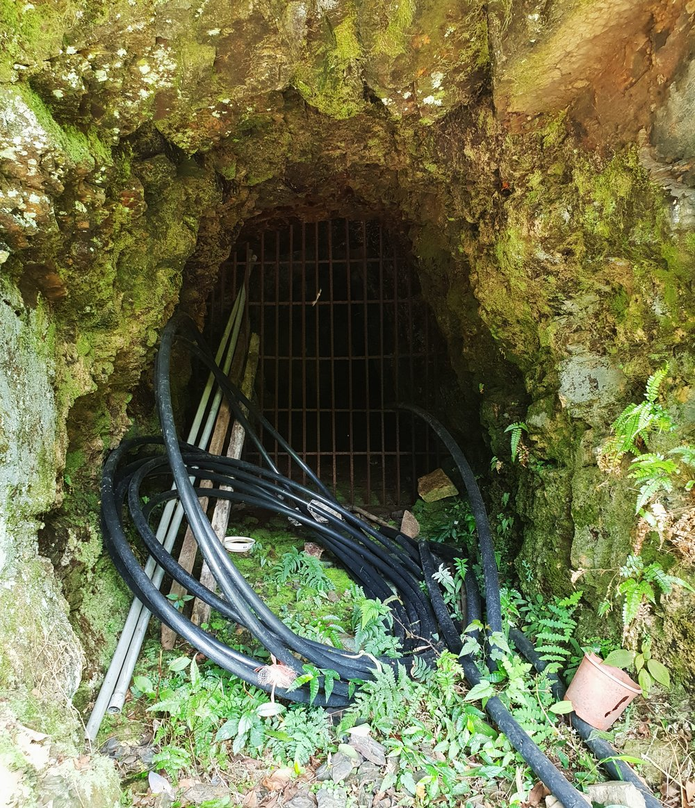 Some informal mine tunnels near Jiufen. Despite appearances some of these are the mouths of networks that go hundreds of meters into the mountains