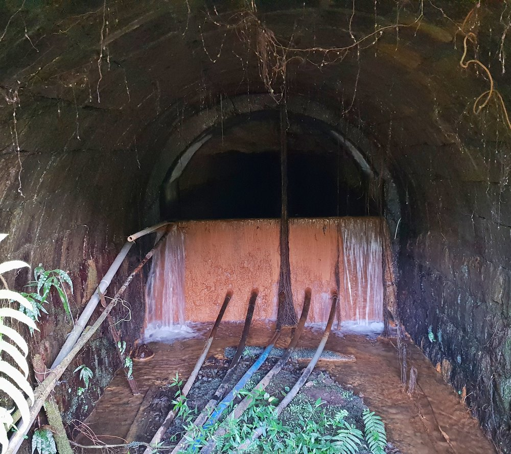 A look in the mine tunnel