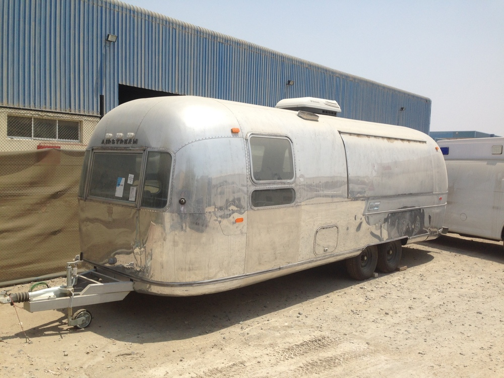 The Airstream we'll be converting into the Panifico Food Truck! It looks worn down right now but we have big plans for this old dog.