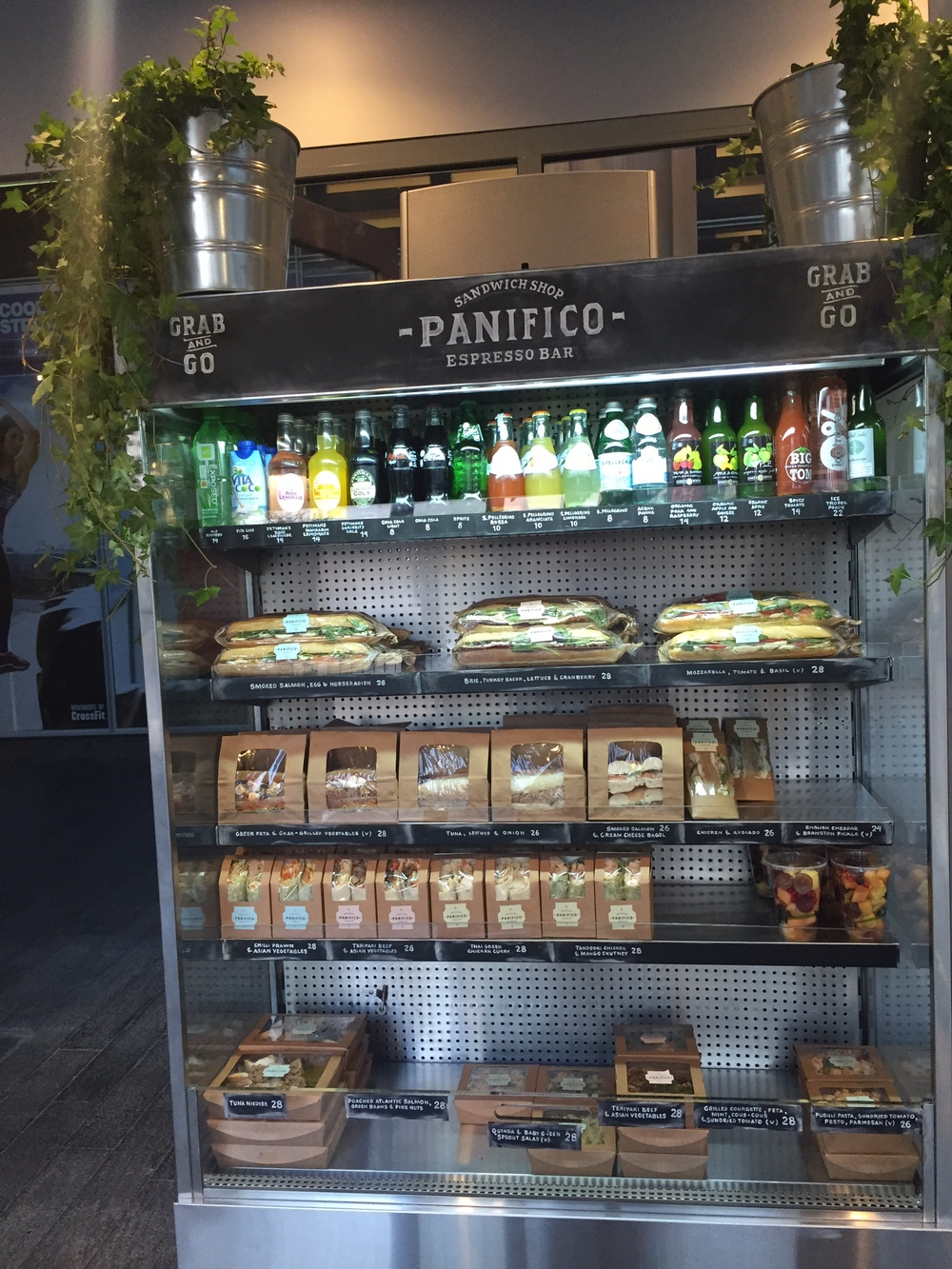 A fantastic selection of grab-and-go beverages, sandwiches and salads. If you're always in a hurry and in the mood for gourmet, you're going to become best friends with this cooler.