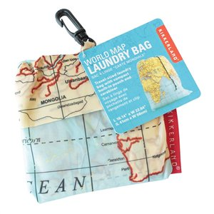 World Map Travel Laundry Bag $9.95