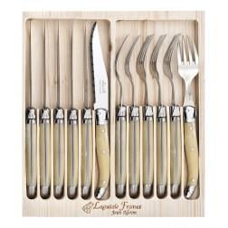 12 Piece Cutlery Set Light Horn $139.95
