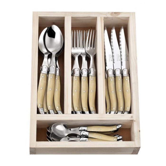 24 Piece Cutlery Set Light Horn $139.95
