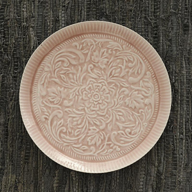 Enamelled Cake Platter - Ruby (above) and Mint $47.95