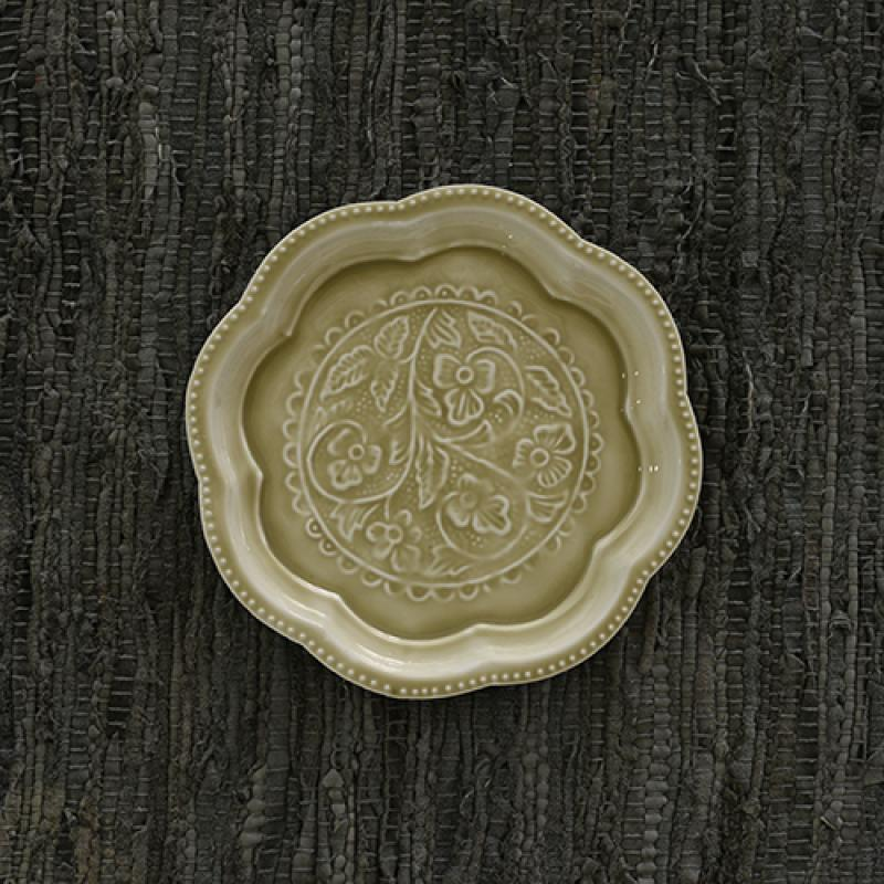 Enamelled Petal Plate - Only stock it in Mint (not pictured above) $38.95