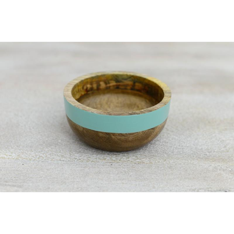 Fluoro Small Wooden Bowl - Blue (above), Orange, Yellow and Pink $24.95