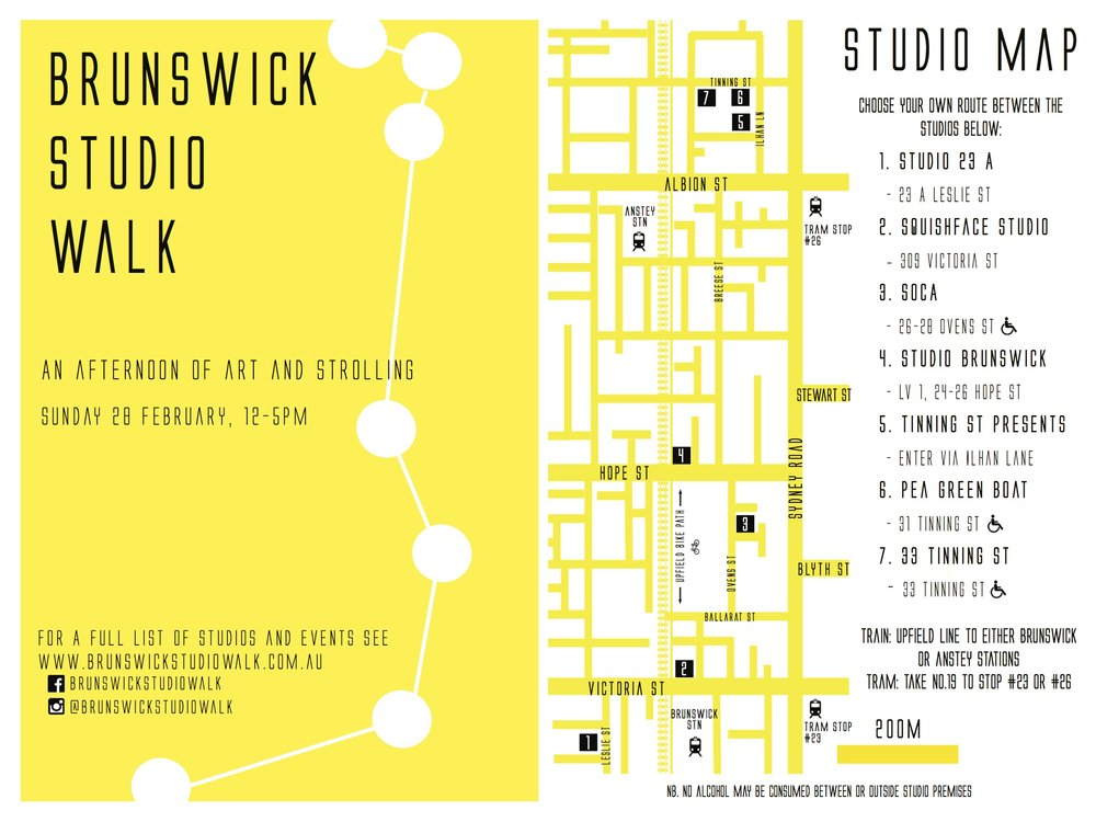 2016 Brunswick Studio Walk Route