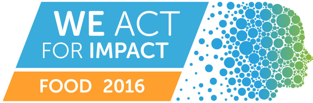 We Act for Impact Food 2016 Logo