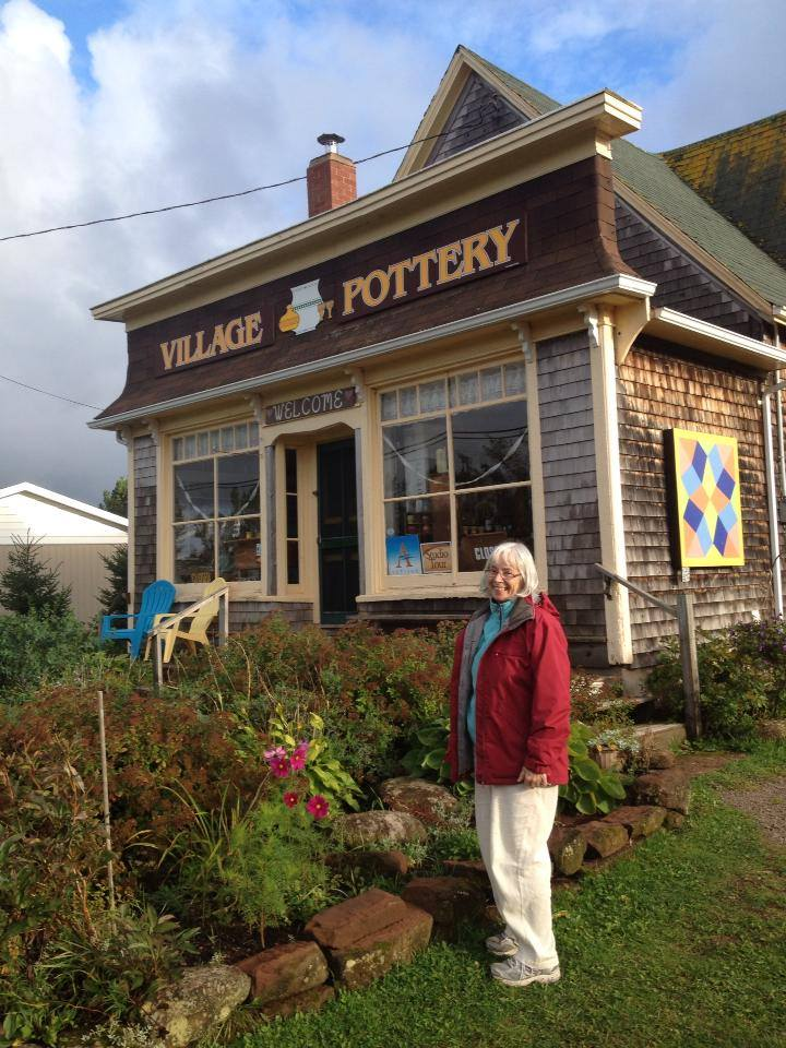 Village Pottery is located in an old general store building in New London, P.E.I, Canada. Set against the rolling farm hills, it's a beautiful area to relax and enjoy the view